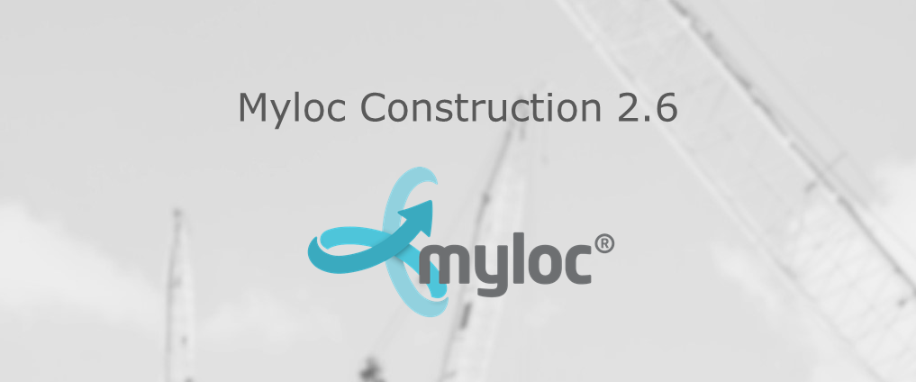 New release – logistics system Myloc Construction version 2.6