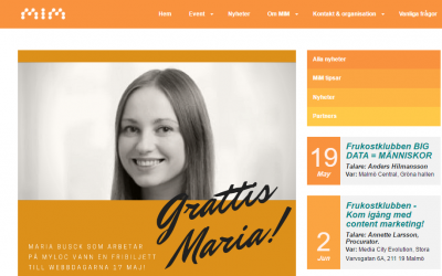 Maria Busck på Myloc vann biljett till Webbdagarna för sitt digitala tips