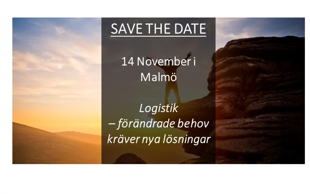 """Inbjudan till event inom supply chain och logistik: """"Logistik – förändrade behov kräver nya lösningar"""""""