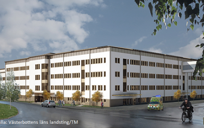 Construction Logistics Solution for University Hospital of Umeå