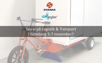 Leveransmaskin för grönare citylogistik ställs ut på Logistik & Transport 5-7 november