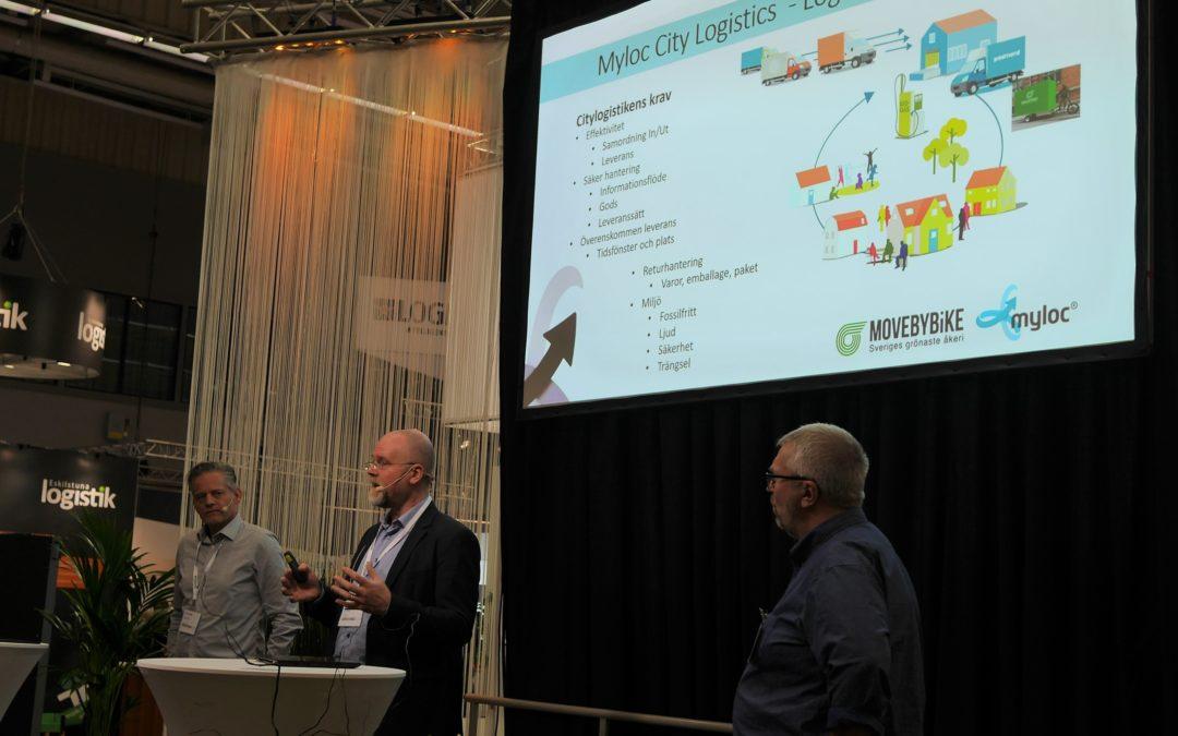 Presentation om Leveransmaskinen för grönare och effektivare citylogistik