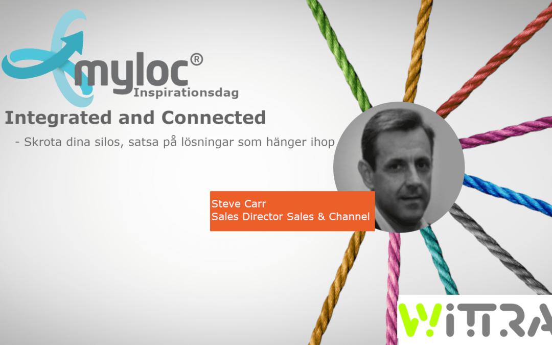 Steve Carr från Wittra talare på Myloc Logistics Inspirationsdag!