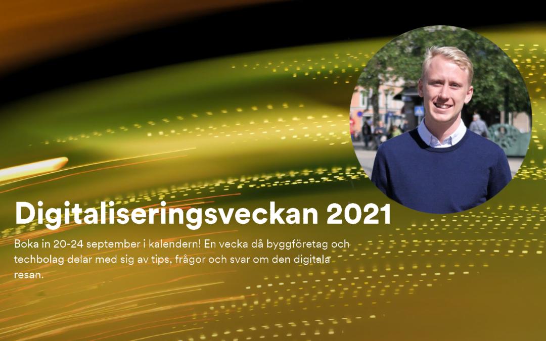 Myloc Construction talar på Digitaliseringsveckan 2021!