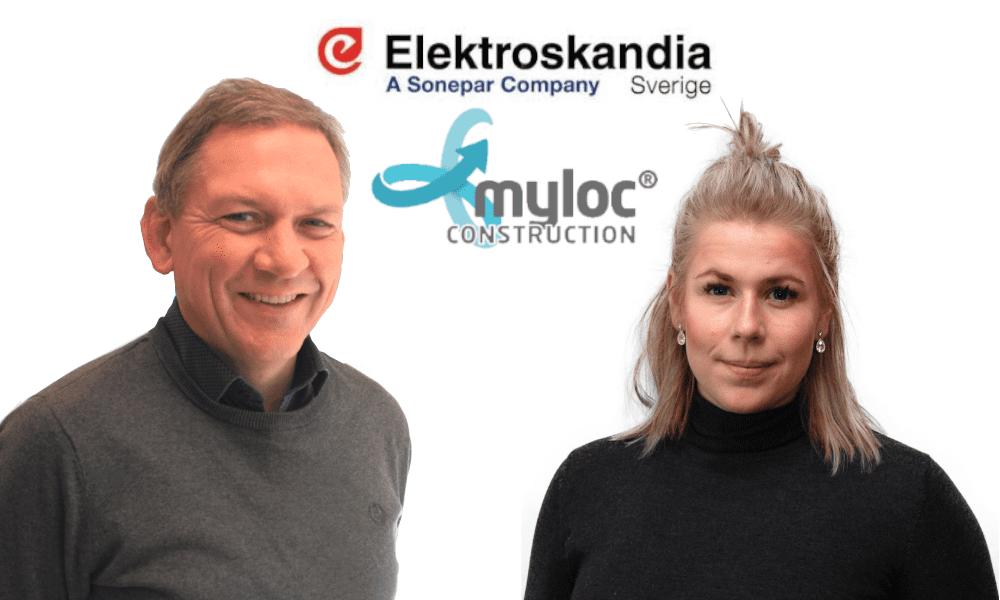 Elektroskandia och Myloc förenklar hållbart byggande – integrerar materialinköp och bygglogistik
